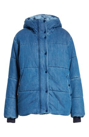rag & bone Denim Puffer Coat | Nordstrom