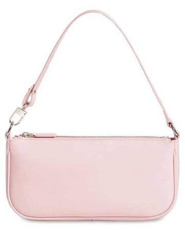 BY FAR Pink Patent Rachel Handbag