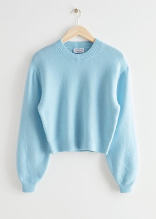Relaxed Sweater - Light Blue - Sweaters - & Other Stories