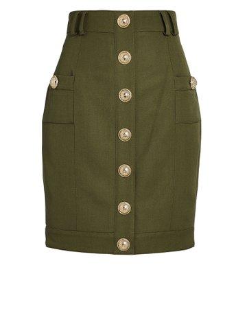 Balmain   High-Waisted Grain de Poudre Skirt   INTERMIX®