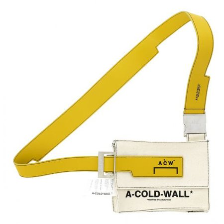A-COLD-WALL* CANVAS UTILITY BAG w/AMBER / NATURAL-AMBER