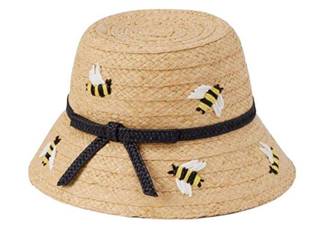 Amazon.com: Kate Spade Bee My Honey Straw Cloche Sun Hat: Clothing