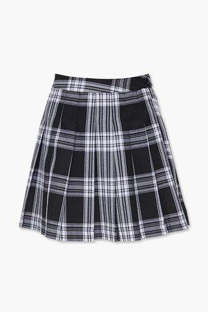 Pleated Plaid Mini Skirt   Forever 21