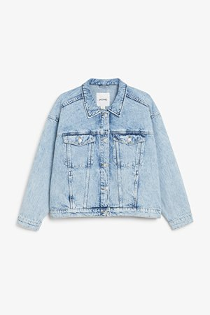 Oversized denim jacket - Light blue - Denim jackets - Monki WW