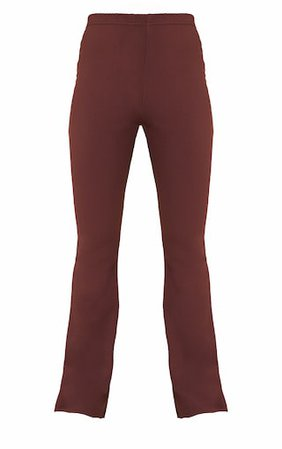 Chocolate High Waist Flared Trousers