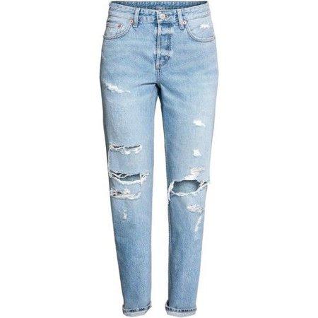Boyfriend Low Ripped Jeans