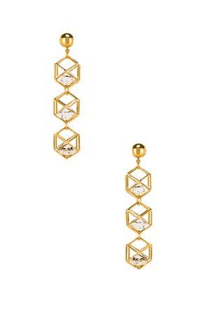 Caged Gem Earrings