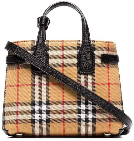 Baby Banner vintage check tote