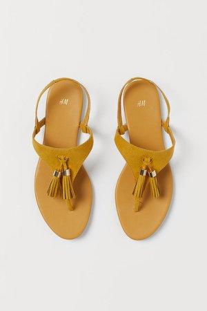 Tasseled Sandals - Yellow