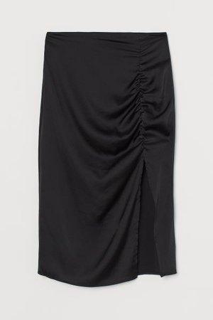 Slit Skirt - Black - Ladies | H&M US