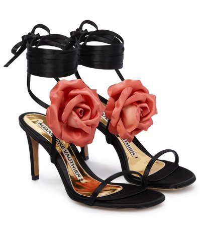 Alexandre Vauthier - Laurel satin sandals | Mytheresa