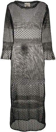 Crochet Knit Midi Dress