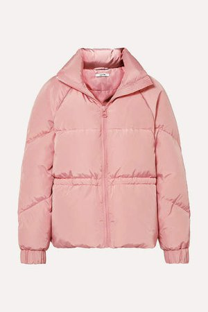 Quilted Shell Down Jacket - Baby pink