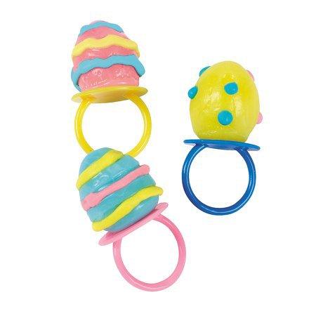 Fun Express - EgG-Shaped Sucker Rings for Easter - Edibles - Sucker & Pop - Ring & Pacifier Suckers - Easter - 12 Pieces - Walmart.com
