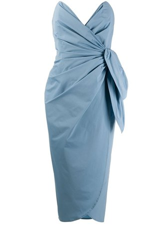 Maison Margiela draped-front Midi Dress - Farfetch