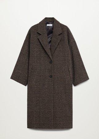 Oversize wool coat - Women   Mango USA