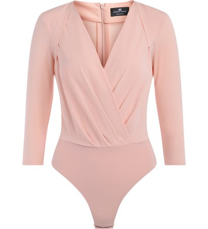 Elisabetta Franchi Body Shirt In Antique Pink Fabric