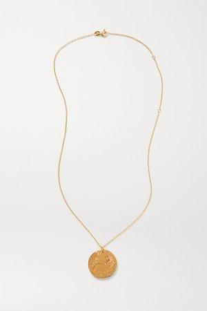 Gold Il Leone Medallion gold-plated necklace   Alighieri   NET-A-PORTER