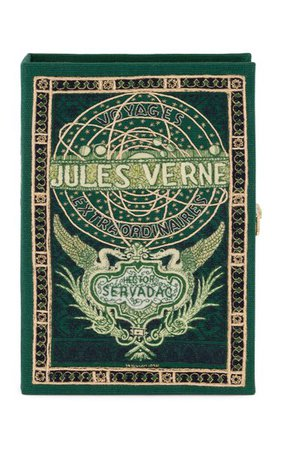 Jules Verne's Voyages Customizable Book Clutch By Olympia Le-Tan | Moda Operandi
