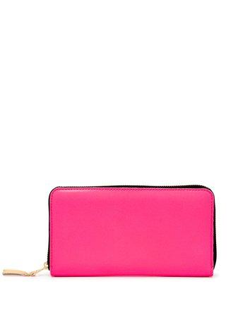 Comme Des Garçons Wallet zip-around leather wallet - FARFETCH