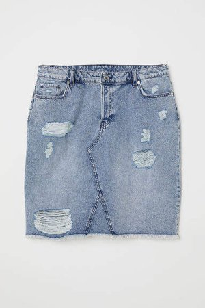 H&M+ Denim Skirt - Blue