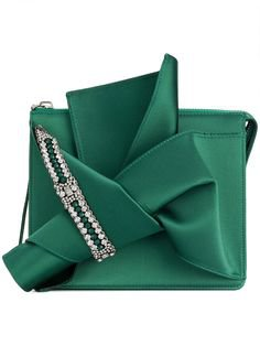 Forest-green satin Zip fastening along top Made in Italy | bags & wallets in 2019 | Bags, Emerald green shoes, Green clutches