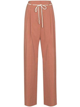 LVIR tied-waist wide-leg Trousers - Farfetch
