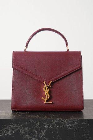 Burgundy Cassandra medium textured-leather tote | SAINT LAURENT | NET-A-PORTER