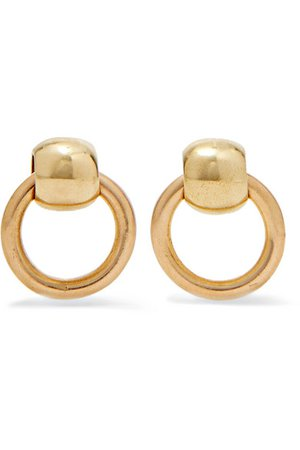 Laura Lombardi | Rina gold-tone earrings | NET-A-PORTER.COM