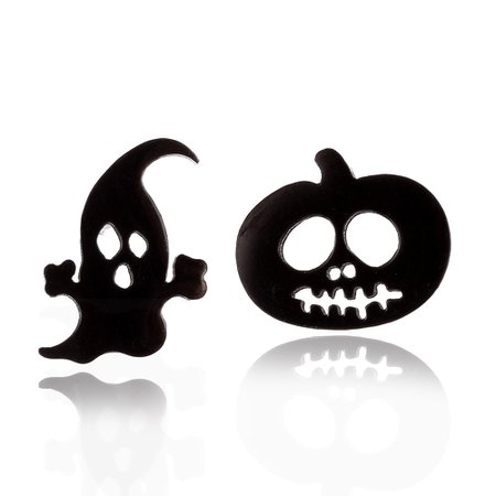 pumpkin ghost spooky earrings
