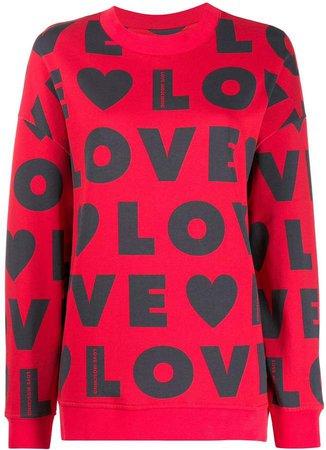 all over logo print sweatshirt