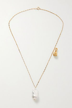 Gold The Anchor and The Baroque gold-plated pearl necklace | Alighieri | NET-A-PORTER