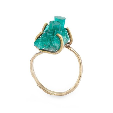 Emerald Crystal Ring | Handmade Crystal Jewelry; Healing Jewelry | UncommonGoods