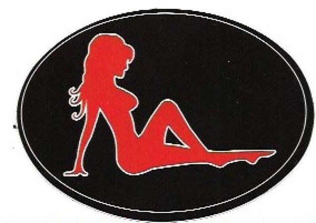 Mudflap Girl Vintage Sticker   Etsy