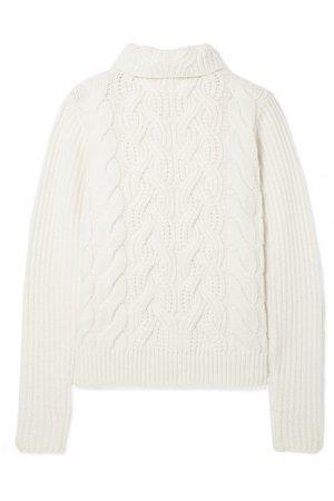Helmut Lang   Cable-knit wool turtleneck sweater   NET-A-PORTER.COM
