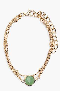 Alexis Colour Stone Skinny Bracelet