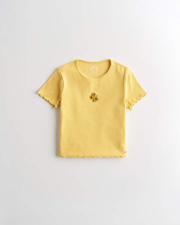 Girls Must-Have Crop Baby Tee | Girls Clearance | HollisterCo.com
