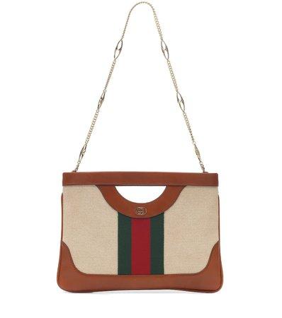 Vintage Large Canvas Shoulder Bag   Gucci - Mytheresa