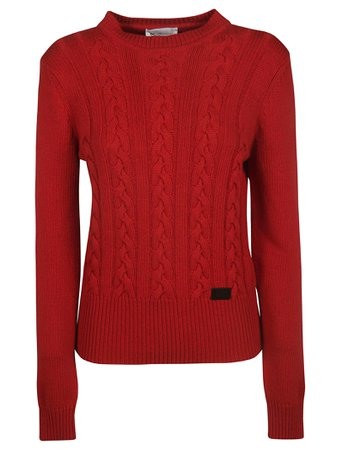 Be Blumarine Braid Knit Pattern Sweater