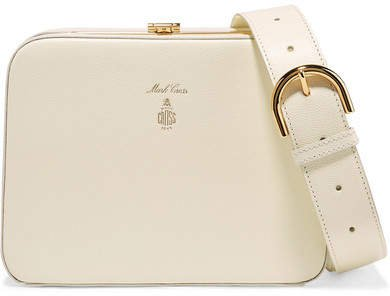 Juliana Textured-leather Shoulder Bag - White