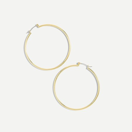 J.Crew: Antique-gold Hoop Earrings For Women
