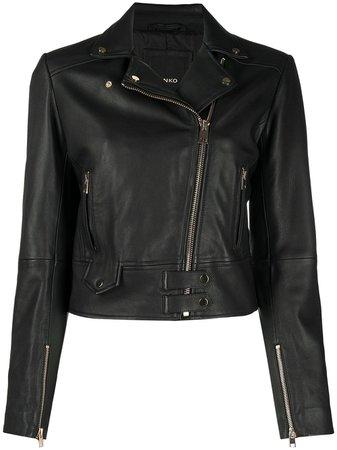Pinko Biker Leather Jacket - Farfetch