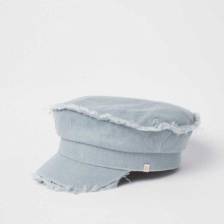 Light blue denim baker boy hat - Hats - Accessories - women