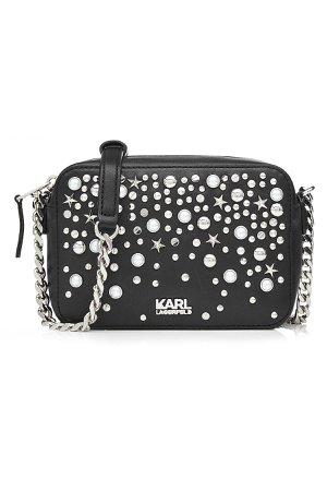 Embellished Leather Shoulder Bag Gr. One Size