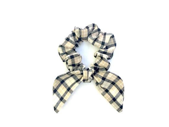 Scrunchie Bunny Ear Scrunchie Plaid Hair Scarf Beach Hair Tie | Etsy