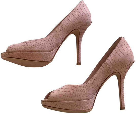 Pink Suede Sandals