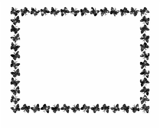 Free Download Butterfly Black And White Border Clipart - Butterfly Borders And Frames Free PNG Images & Clipart Download #1148405 - Sccpre.Cat