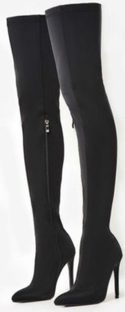 Black Long Heeled Boots