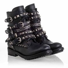 Ash Rebel Womens Boot Black Leather 340438