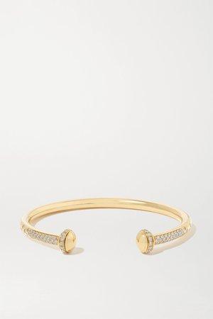 Gold Possession 18-karat gold diamond cuff   Piaget   NET-A-PORTER